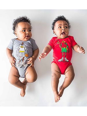 Undrcrwn Dynamic Duo Onesies Set