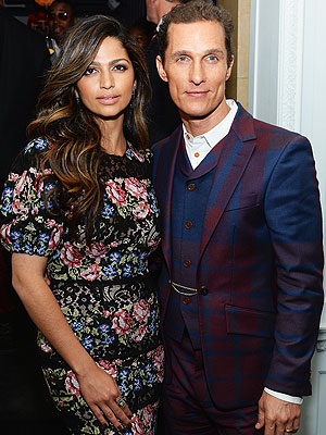 Camila and Matthew McConaughey'