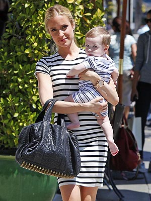 Kristin Cavallari Son Camden Wearing Matching Stripes