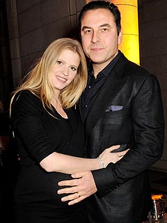 David Walliams Lara Stone Welcome Baby