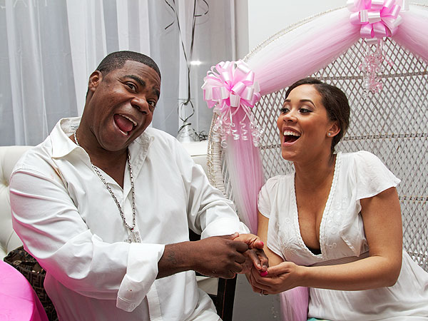 Tracy Morgan Megan Wollover Baby Shower