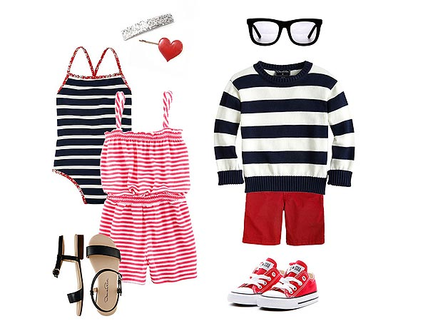 Graphic Stripes: Oscar de la Renta Kids Styling Tips Marissa Kraxberger