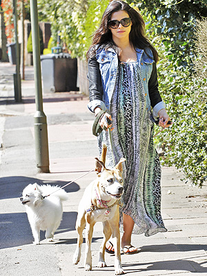 Jenna Dewan Tatum J.Brand Coated Denim Jacket Lovers + Friends Fly Away Dress London