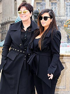 Kim Kardashian Kris Jenner Shopping in Paris for Baby