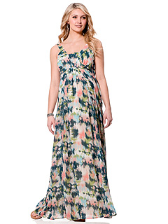 Jessica Simpson Motherhood Maternity Floral Maxi Dress