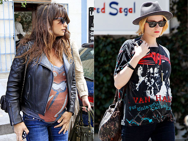 Penelope Cruz Evan Rachel Wood Pregnant Rocker Tees