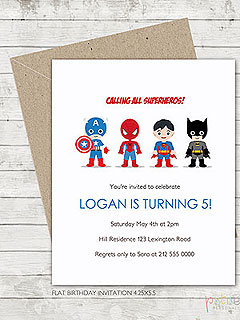 Etsy Superhero Invite