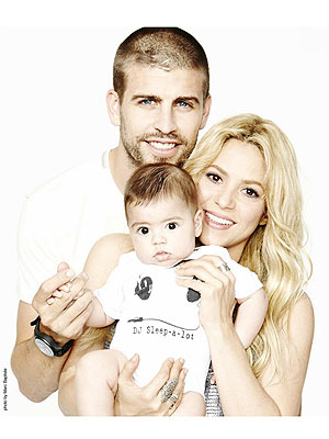 Shakira Gerard Piqué Milan Family Photo