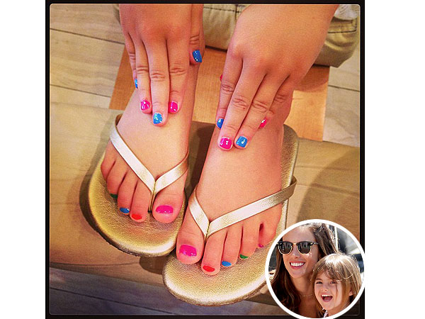 Alessandra Ambrosio Daughter Anja Nail Art
