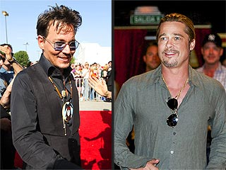 PHOTO: Johnny Depp Pulls a Brad Pitt & Surprises Fans at Film Screening | Brad Pitt, Johnny Depp
