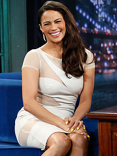 Paula Patton Late Night with Jimmy Fallon