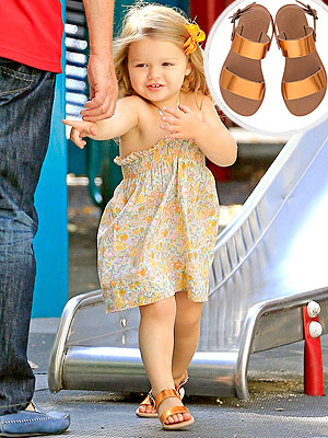 Harper Beckham Wearing Ancient Greek Sandals Little Clio shoes
