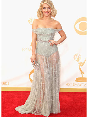 Julianne Hough's Sheer Emmys Gown