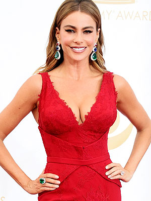 Sofia Vergara boobs Emmys 2013