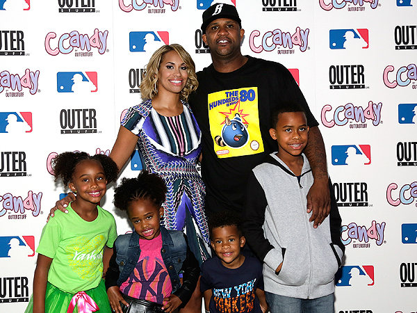 Yankee Pitcher CC Sabathia and Family