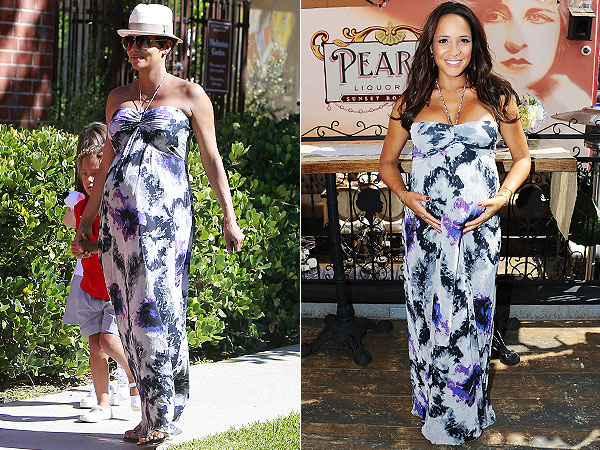 Halle Berry Dania Ramirez Pregnant Seraphine Tie-Dye Maxi Dress