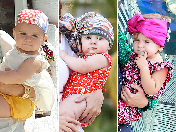 Penelope Disick Wearing a Turban Kourtney Kardashian