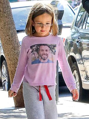 Seraphina Affleck Wearing Ben Affleck Tee
