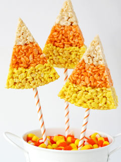 Glorious Treats Candy Corn Rice Krispies Treats