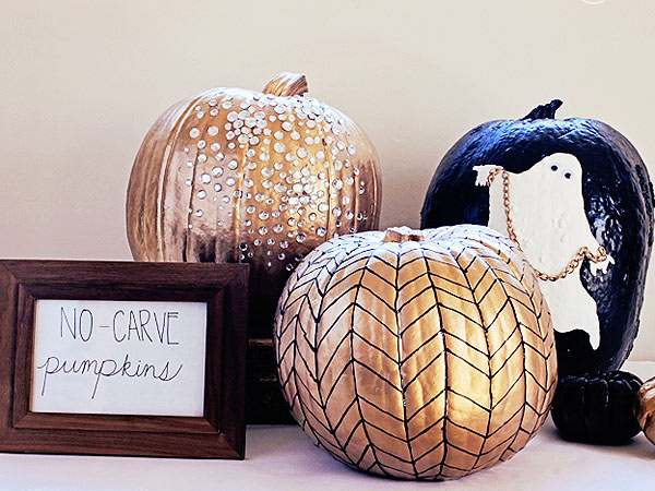 Lacquer and Linen Pumpkins