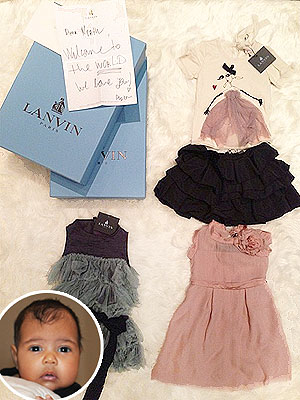 North West Designer Clothes Photos: Lanvin, Celine, Alexander Wang