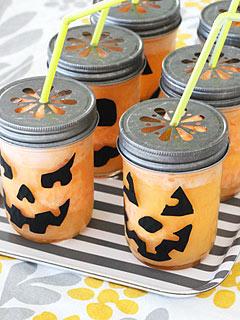 Homes.com Pumpkin Drink Jars