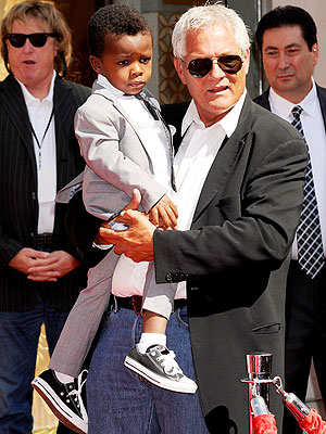 Louis Bullock in Appaman Suit at Sandra Bullock's Hand and Foot Ceremony