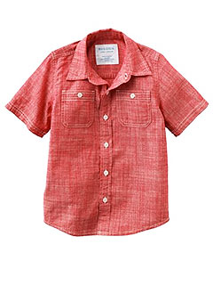 Sonoma Chambray Woven Button Down