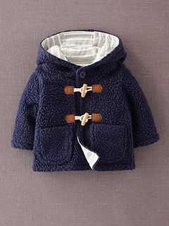 Boden Mini Fleece Duffle Coat
