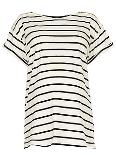Topshop Roll Sleeve Maternity Tee