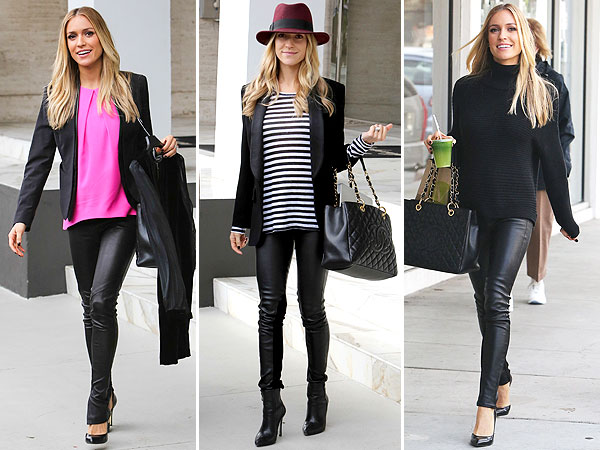 Kristin Cavallari Pregnant Leather Pants