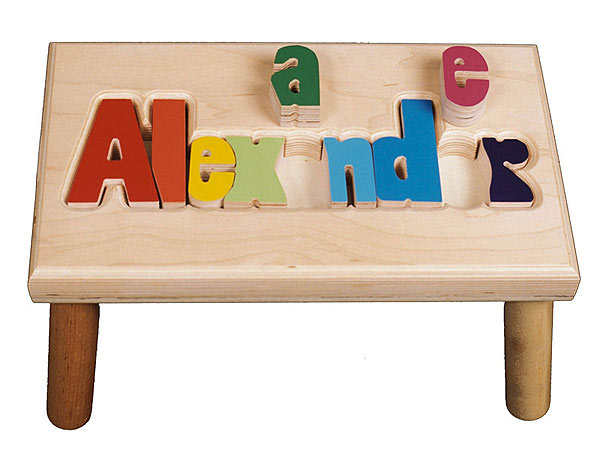 Stationery Studio Personalized Puzzle Letter Stool Giveaway