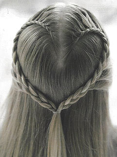 Heart Braid Hairstyle Girls