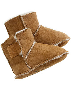 Crewcuts Minnetonka Baby Shearling Booties