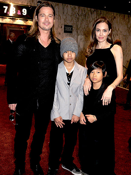 LONDON photo | Angelina Jolie, Brad Pitt, Maddox Jolie-Pitt, Pax Thien Jolie-Pitt