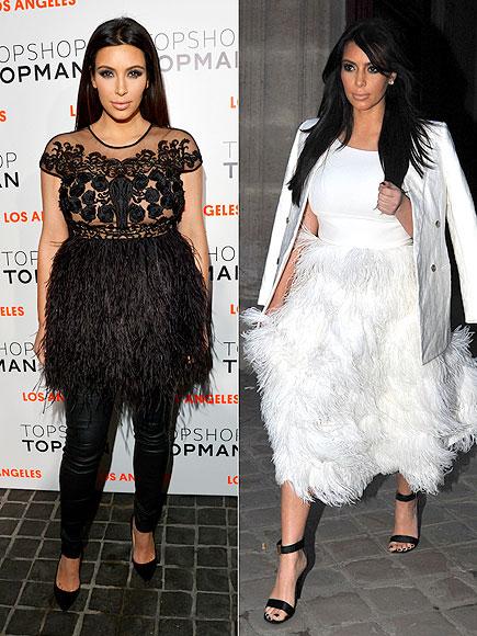 FEATHERED SKIRTS photo   Kim Kardashian