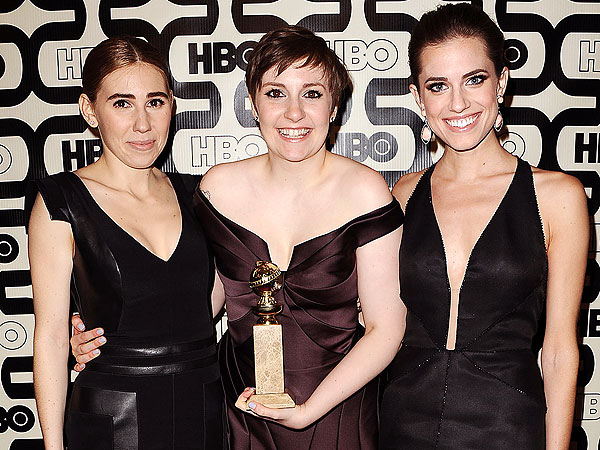 Lena Dunham Is Starstruck by Sally Field at Golden Globes Afterparty