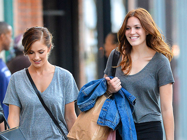 Mandy Moore & Minka Kelly Have a Makeup-Free Brunch in West Hollywood