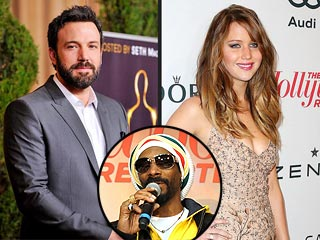 Snoop Dogg Gets the Party Started with Ben Affleck and Jennifer Lawrence | Ben Affleck, Jennifer Lawrence