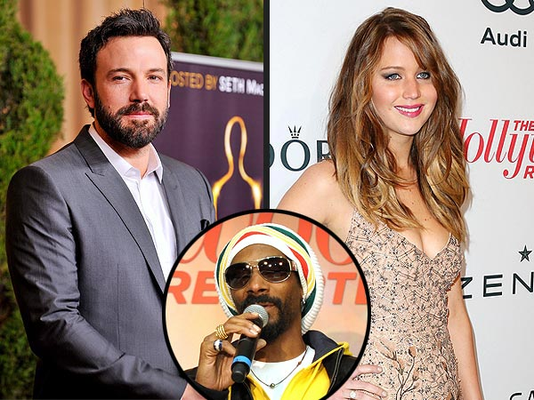 Snoop Dogg Gets the Party Started with Ben Affleck and Jennifer Lawrence