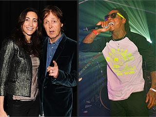 Paul McCartney Rocks Out to Lil Wayne & More Super Bowl Party Sightings | Lil Wayne, Paul McCartney