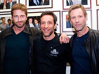 Gerard Butler & Aaron Eckhart Feast Together in Rome | Aaron Eckhart, Gerard Butler