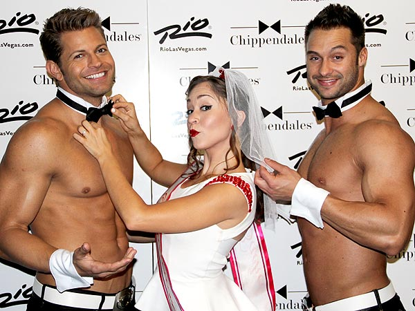 Ace Young Surprises Diana DeGarmo by Performing with Chippendales