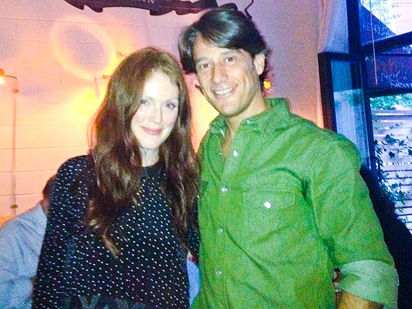 Julianne Moore Celebrity Sighting at Antica Pesa