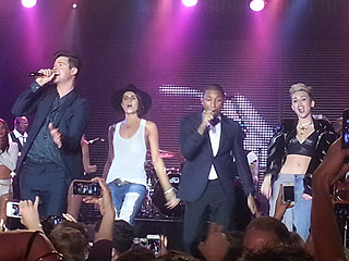 Miley Cyrus Takes the Stage at Star-Studded Bash in L.A. | Miley Cyrus, Robin Thicke