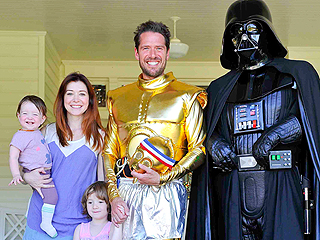 Alyson Hannigan & Daughters Cheer on Dad at Star Wars-Themed Relay Race | Alyson Hannigan