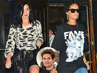 Katy Perry, John Mayer & Rihanna's N.Y.C. Night: Dinner, Drinks & Instagram! | John Mayer, Katy Perry, Rihanna
