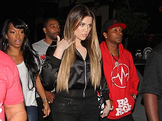 Khloé Kardashian Parties in Hollywood, Tweets About 'Real Love'