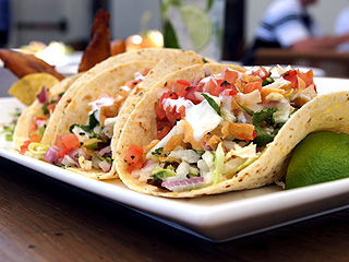 Tommy Bahama's Cajun Blackened Fish Tacos