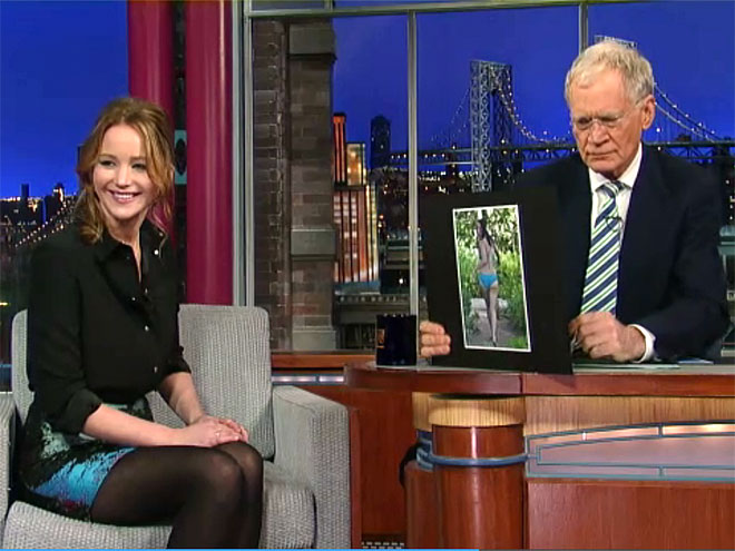 photo | David Letterman, Jennifer Lawrence